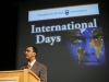 Bill Sundu lectures on the topic of human rights at the Clocktower theatre on Tuesday.